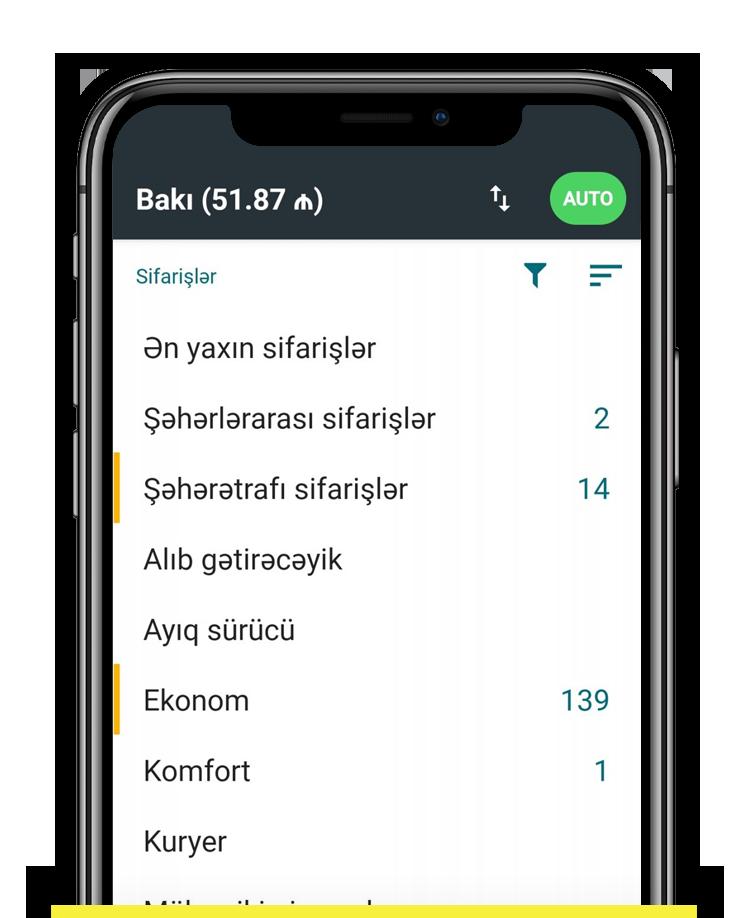 Tətbiq ekran görüntüsü